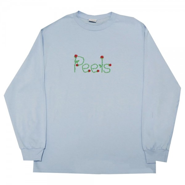 Tee Shirt Manches Longues Peels Embroidered Vine Logo Light Blue