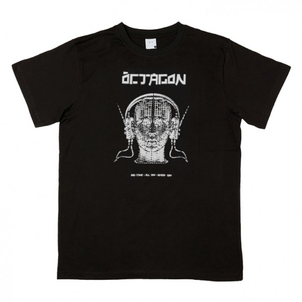 Tee Shirt Octagon Tune In Black