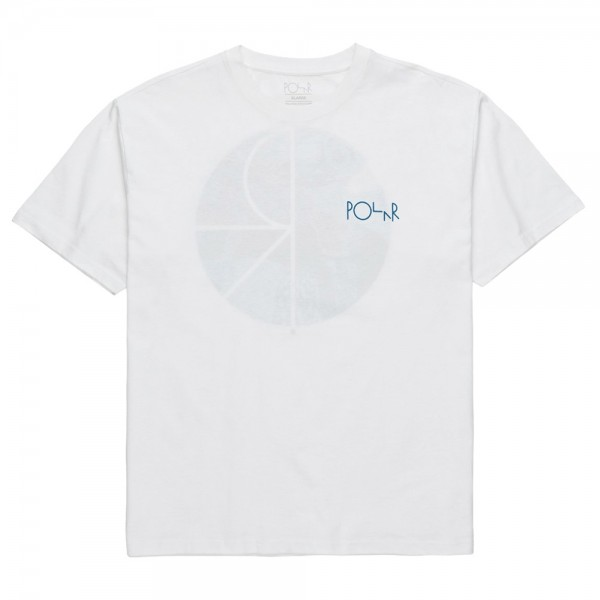 Tee Shirt Polar Orchid Fill Logo White