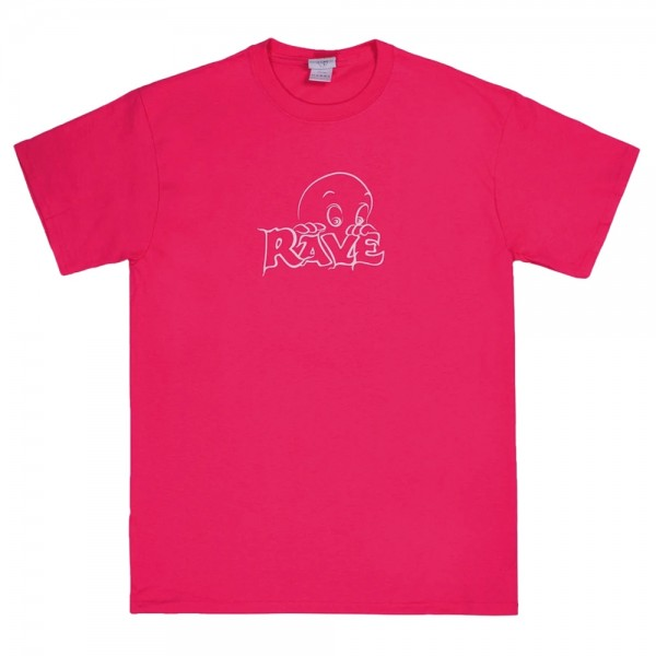 Tee Shirt Rave Friendly Ghost Tee Pink