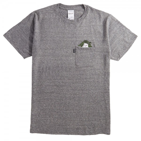 Tee Shirt Rip N Dip Cat Nip Pocket T Heather Gray