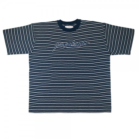 Tee Shirt Yardasle Mobb Knitted Script Navy White