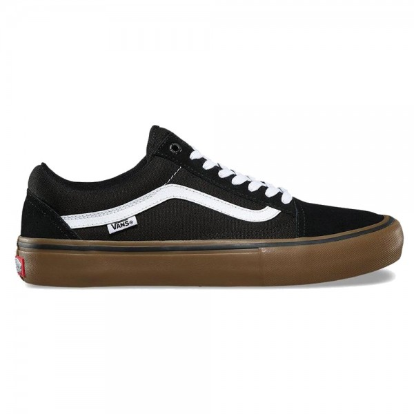 Vans Old Skool Pro Black White Gum