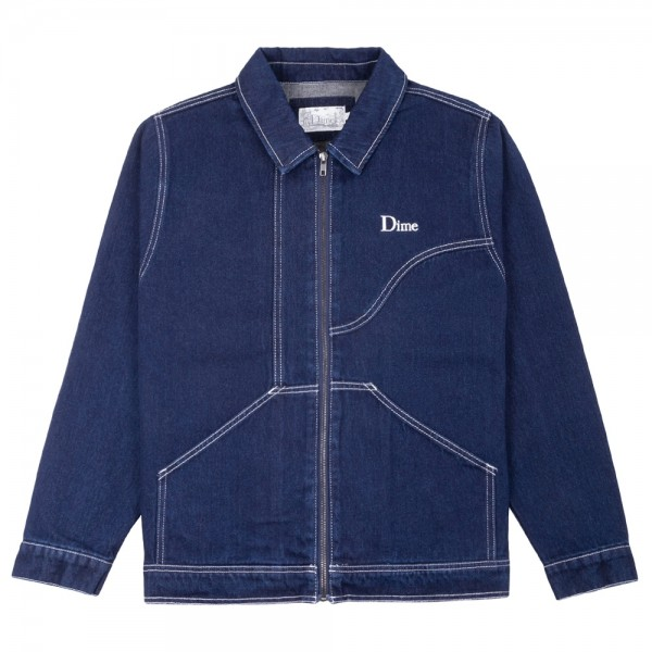 Veste Dime Denim Chore Jacket Raw Dark Indigo