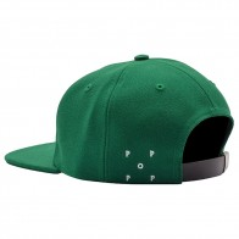 Casquette Pop Trading Company O 6 panel Hat Green White