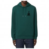 Sweat Capuche Nozbone Dépôt Sauvage Logo Glazed Green