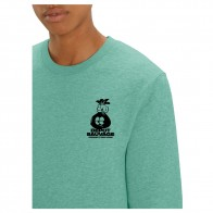 Sweat Crew Nozbone Dépôt Sauvage French Fries Mid Heather Green