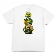 Tee Shirt Quartersnacks Botanical Snackman White