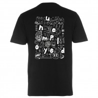 Tee Shirt Unemployed Doodle WTF Black