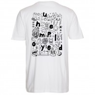 Tee Shirt Unemployed Doodle WTF White