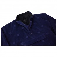 Veste Bronze All Over Embroidered Anorak Navy