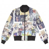 Veste Fucking Awesome Reversible Nylon Bomber Jet Black Collage Art
