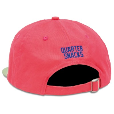 Casquette Quartersnacks Track Club Cap Hot Pink Light Green