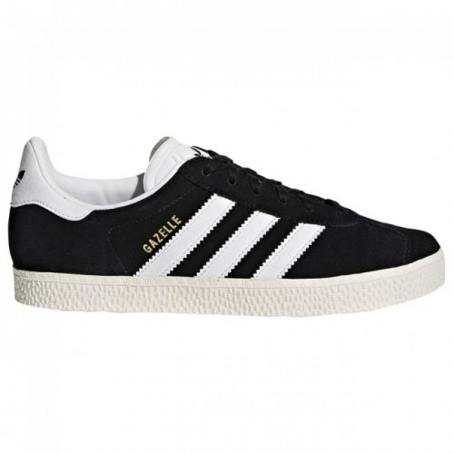 Adidas Gazelle Youth Core Black Footwear White Gold Metallic