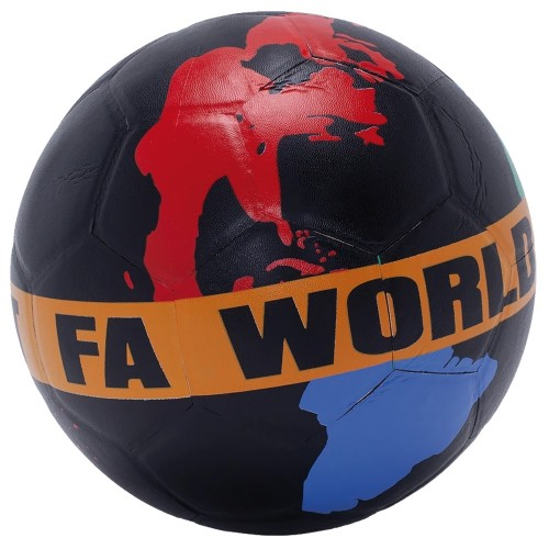Balle Fucking Awesome FA World Entertainement Soccer Ball Black