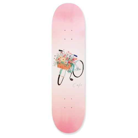 Board Skateboard Café Flower Basket Deck Pink