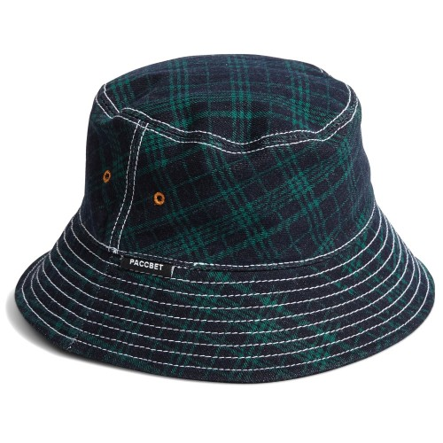 Bob Paccbet Bucket Hat PACC7K005 Green Checks