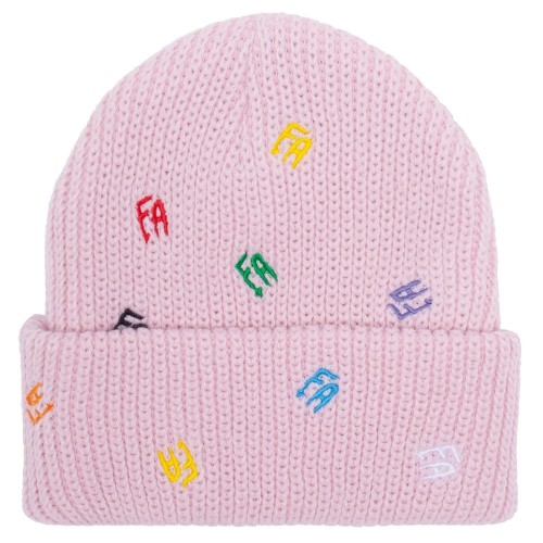 Bonnet Fucking Awesome Scattered FA Cuff Beanie Light Pink