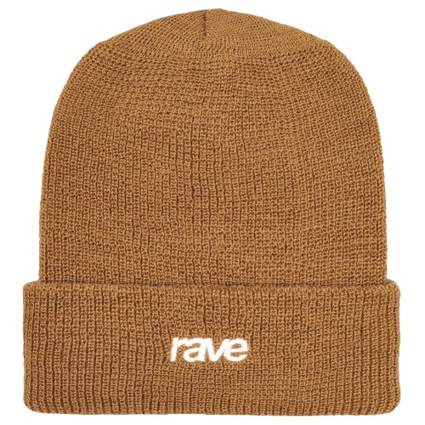 Bonnet Rave Wool Logo Beanie Light Brown