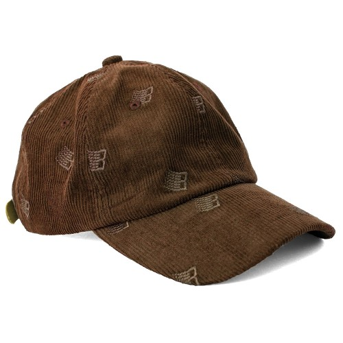 Casquette Bronze All Over Embroidered Cap Brown