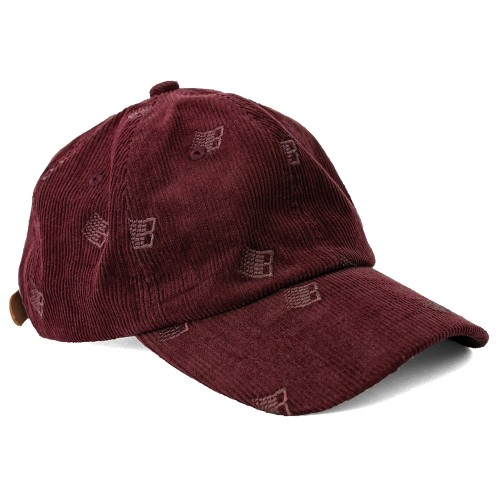 Casquette Bronze All Over Embroidered Cap Maroon