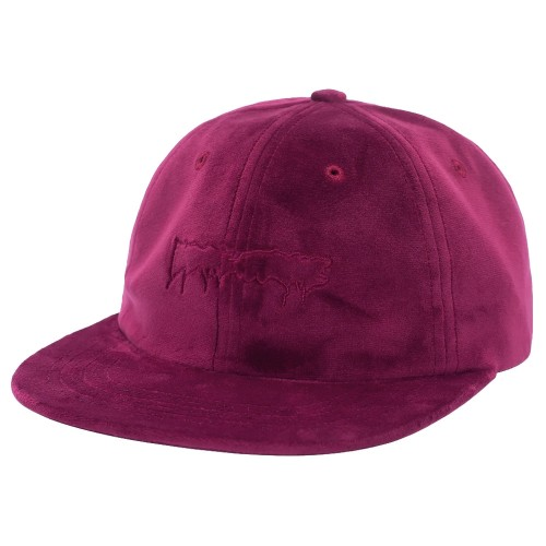 Casquette Fucking Awesome Stamp Unstructured Strapback Maroon