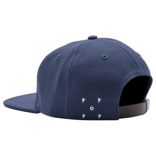 Casquette Pop Trading Company O 6 panel Hat Navy White