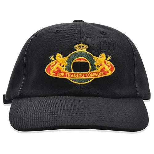 Casquette Pop Trading Company Royal O 6 Panel Hat Black