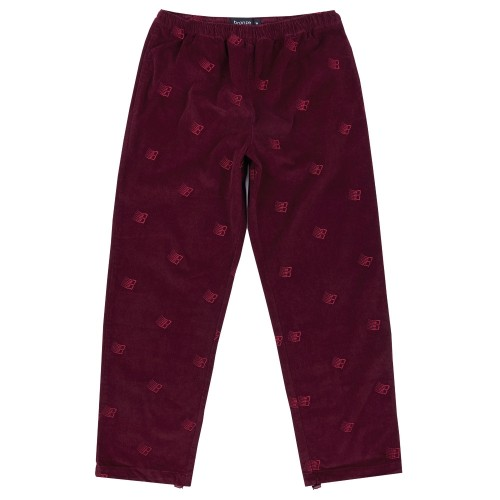 Pantalon Bronze All Over Embroidered Pant Maroon