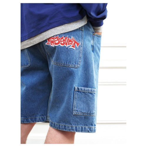 Short Paccbet ( Rassvet ) PACC8P007 Baggy Denim Short Pants Blue