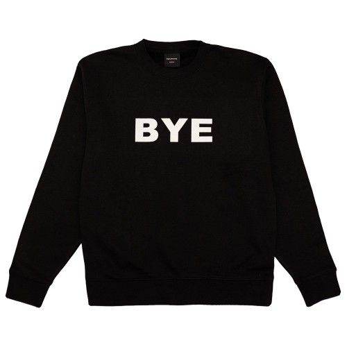 Sweat Bye Jeremy Crewneck Logo Black