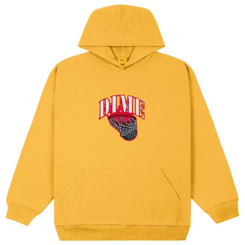 Sweat Capuche Dime Basketbowl Patch Hoodie Dark Yellow