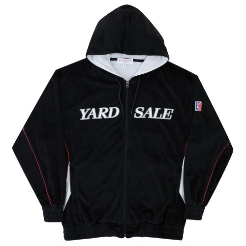 Sweat Capuche Zippé Yardsale Velour Hood Black