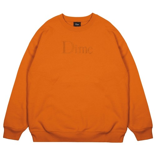 Sweat Dime Classic Logo Crewneck Orange