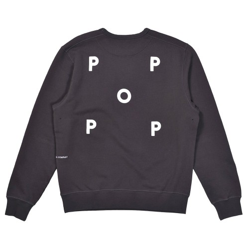 Sweat Pop Trading Company Logo Crewneck  Anthracite