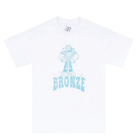 Tee Shirt Bronze 56k Jackhammer Tee White