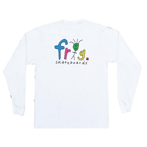 Tee Shirt Manches Longues Man Logo Long Sleeve White