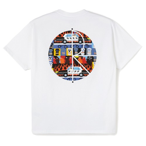 Tee Shirt Polar ACAB Fill Logo Tee White