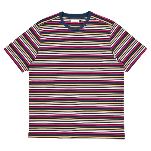 Tee Shirt Pop Trading Company Striped Pocket Tee Multicolor