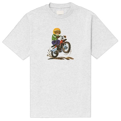 Tee Shirt The Loose Company Motocross Tee Heather Grey