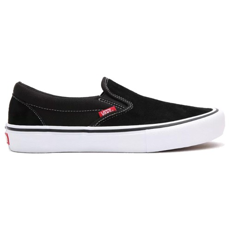Vans Slip On Pro Black White