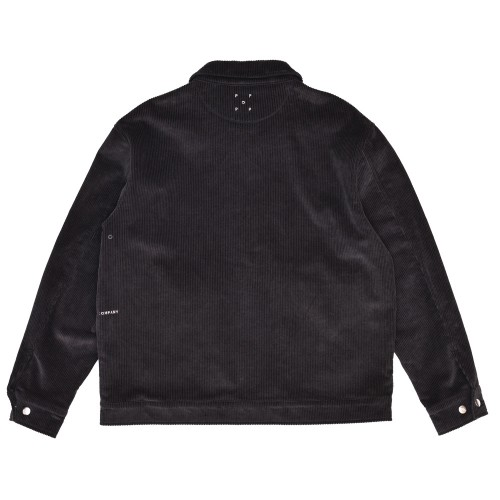 Veste Pop Trading Company Full Button Jacket Charcoal